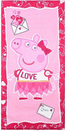 Greta Gris Badehåndkle, Dark Pink