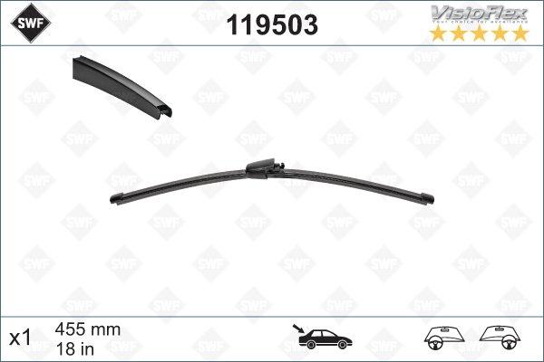 Flatblade 455mm för bakruta
