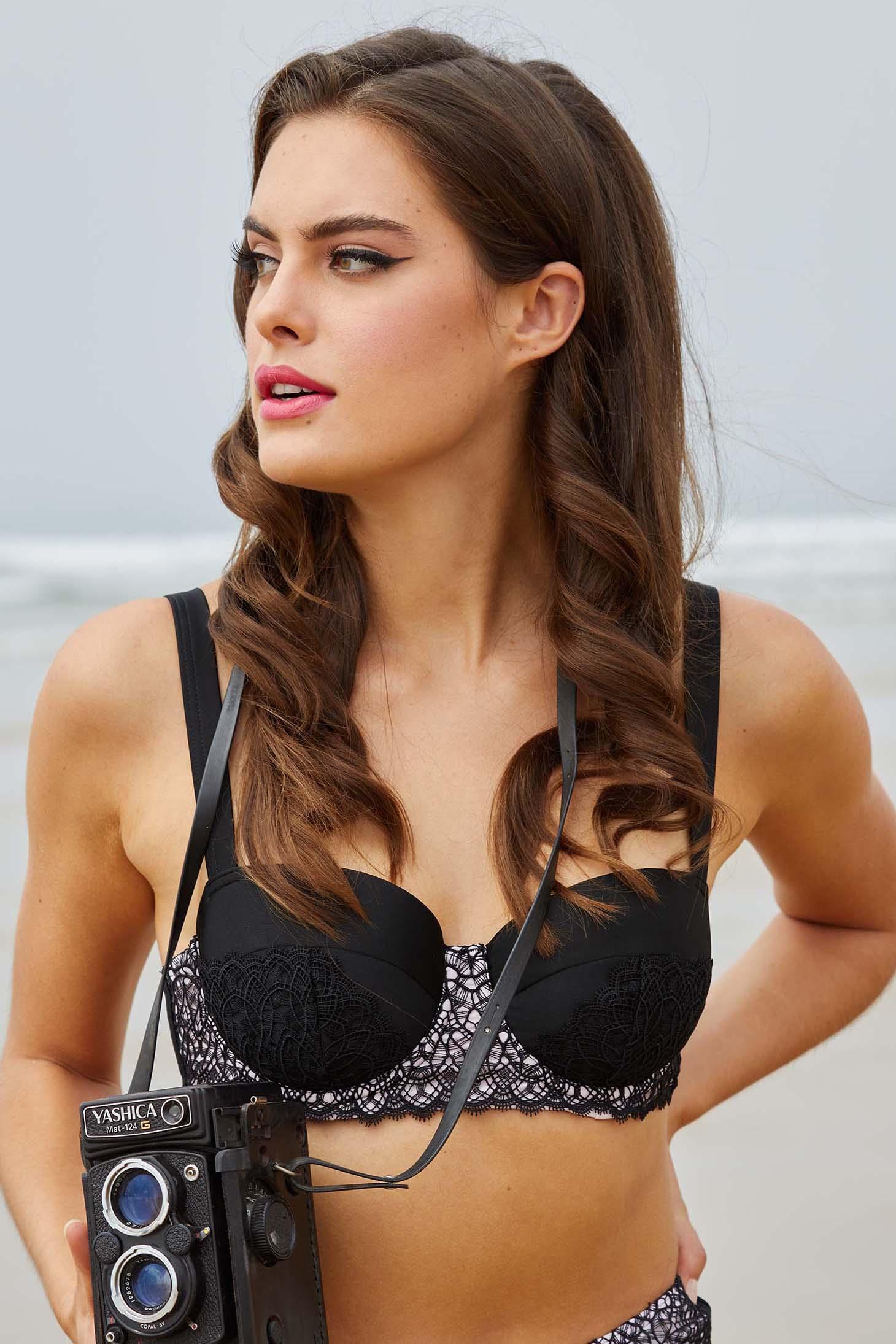 Bettie Page Eco Vivien Balcony Bikini Top UK 10 / US 6