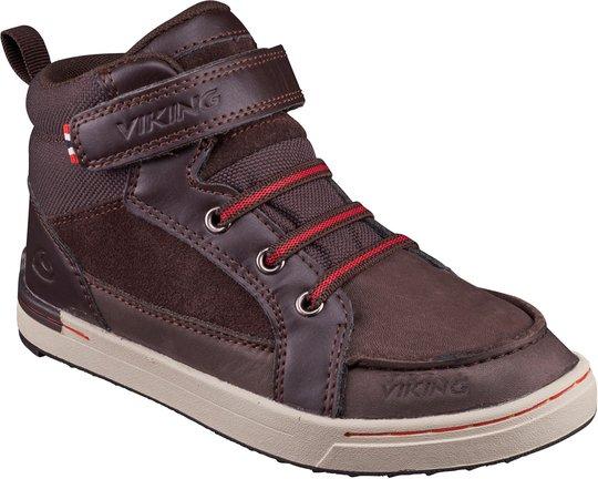 Viking Moss MID Sneaker, Dark Brown/Red 29