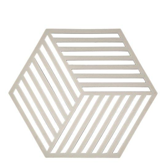 Zone Denmark - Hexagon Grytunderlägg Silikon 16 cm Varmgrå