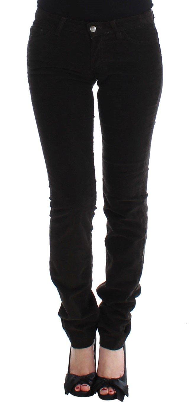 Dolce & Gabbana Women's CUTE Corduroy Slim Casual Trouser Brown SIG13237 - IT38 XS