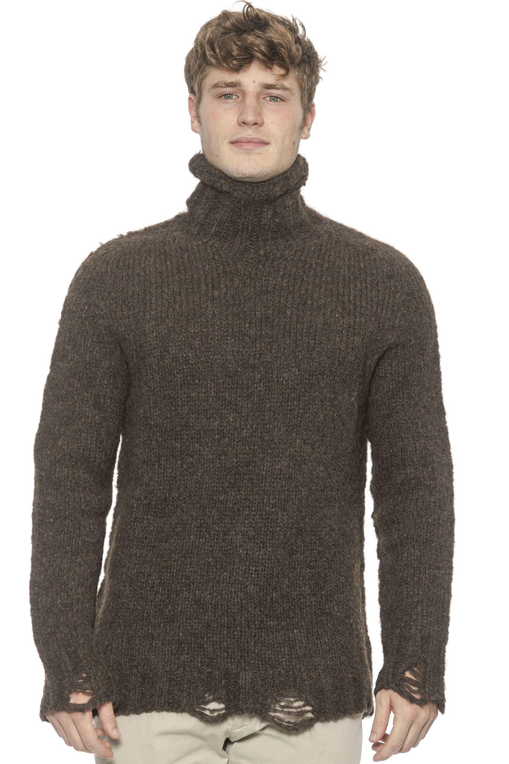 Alpha Studio Men's Moro Sweater Brown AL1314508 - IT48 | M