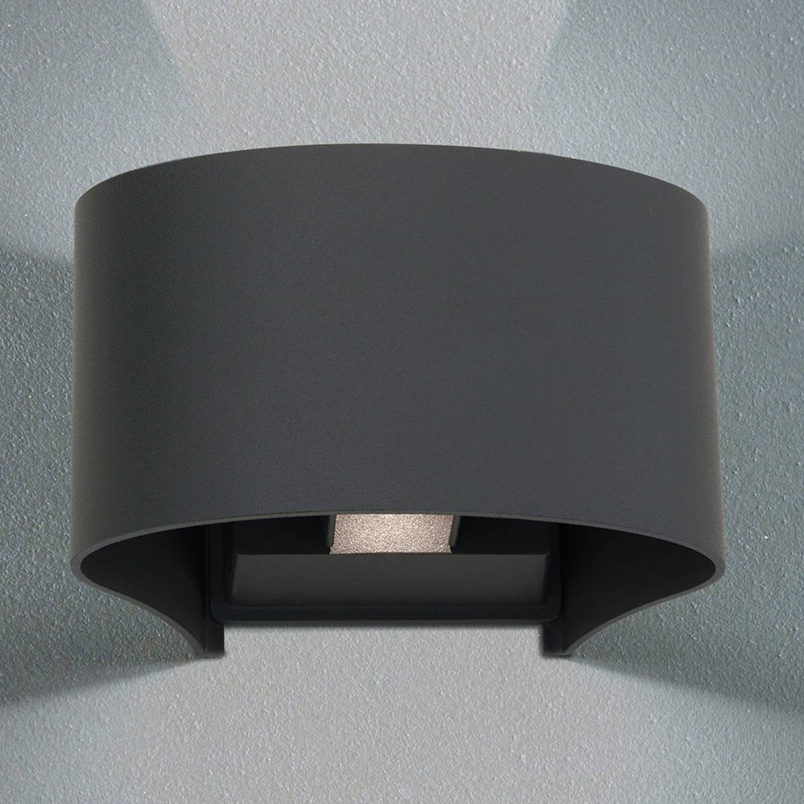 LED-ulkoseinälamppu Greta, up/down, antrasiitti