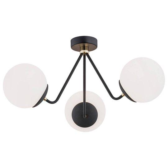Taklampe Tuse, 3 lyskilder, svart