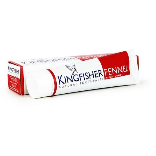 Kingfisher Naturlig Tandkräm Fänkålssmak & Fluor, 100 ml