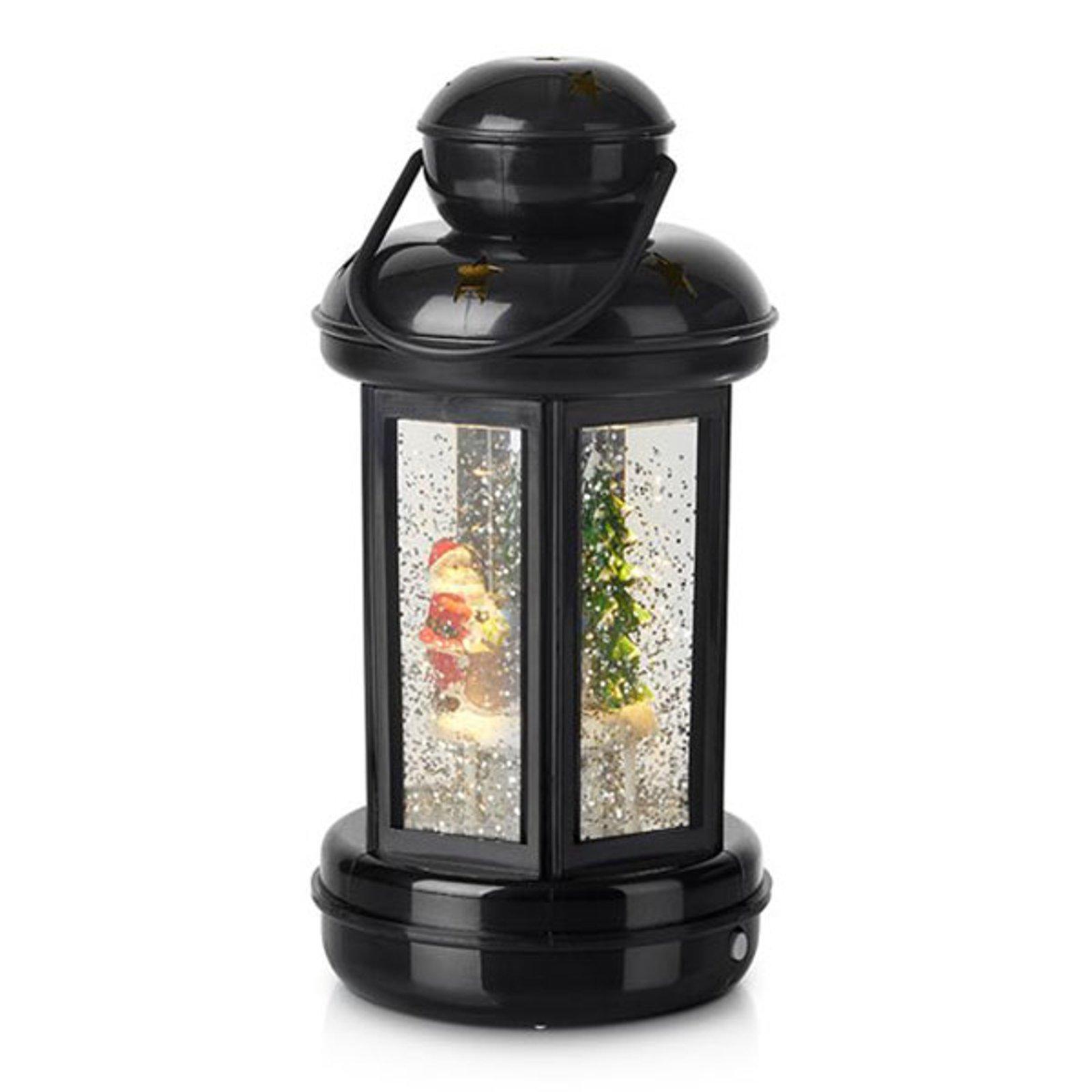 Glitter - fylt dekorlanterne Cosy LED svart