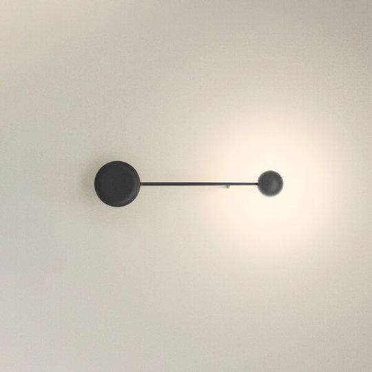 Musta LED-seinävalo Pin