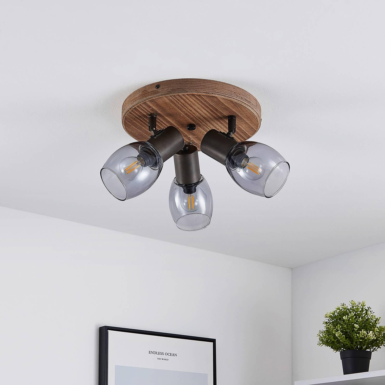 Lindby Ineska -kattokohdevalo 3-lamp. pyöreä