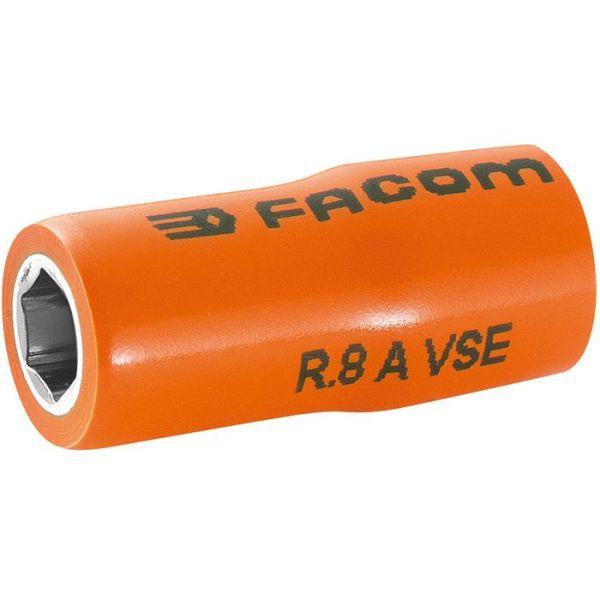 "Facom R.8AVSE Hylsy 8mm, 1/4"", 6k, 1000V"