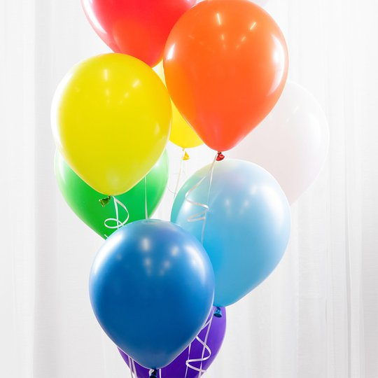 Ballonbukett Regnbåge