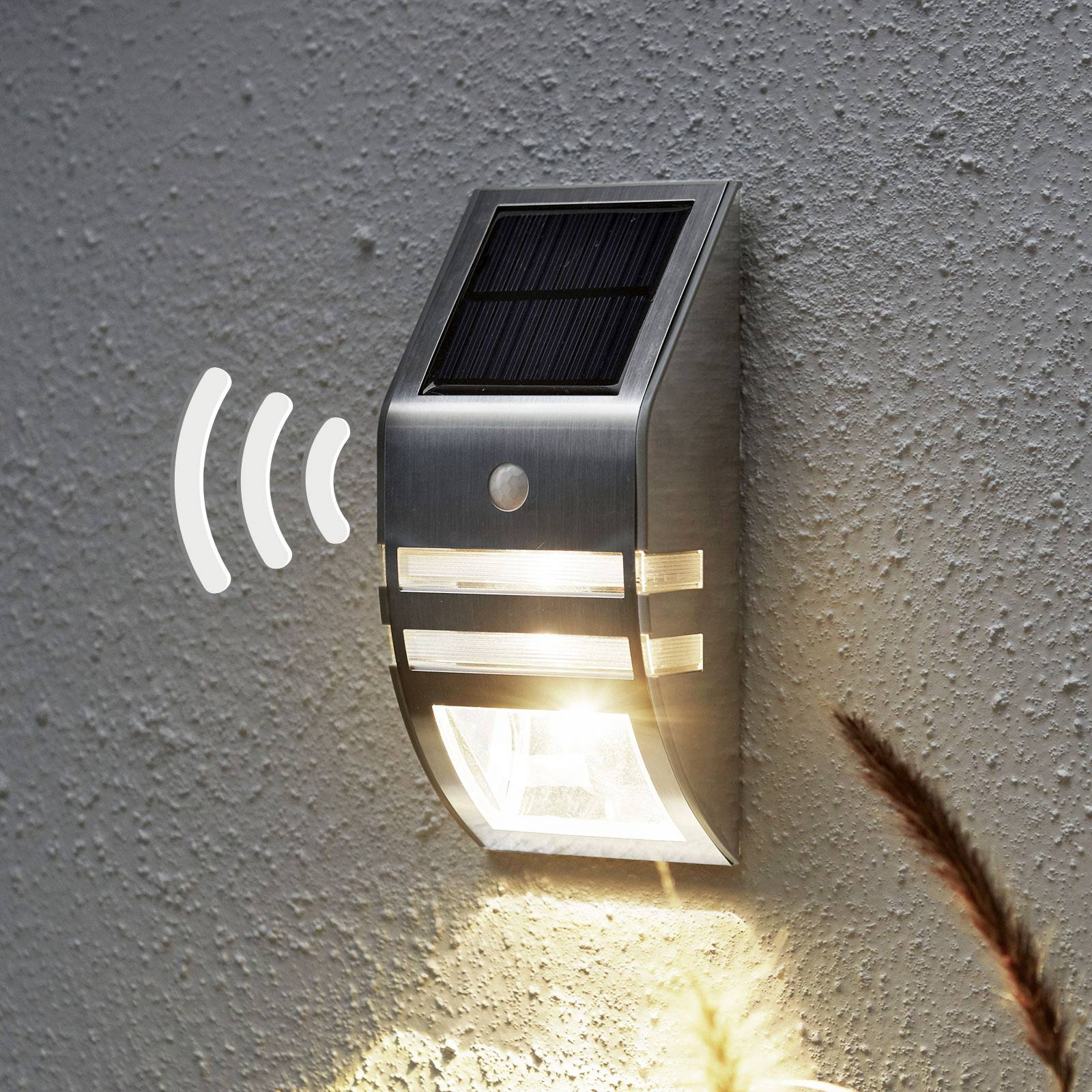 Aurinkokäyttöinen Wally-LED-seinälamppu, BWM