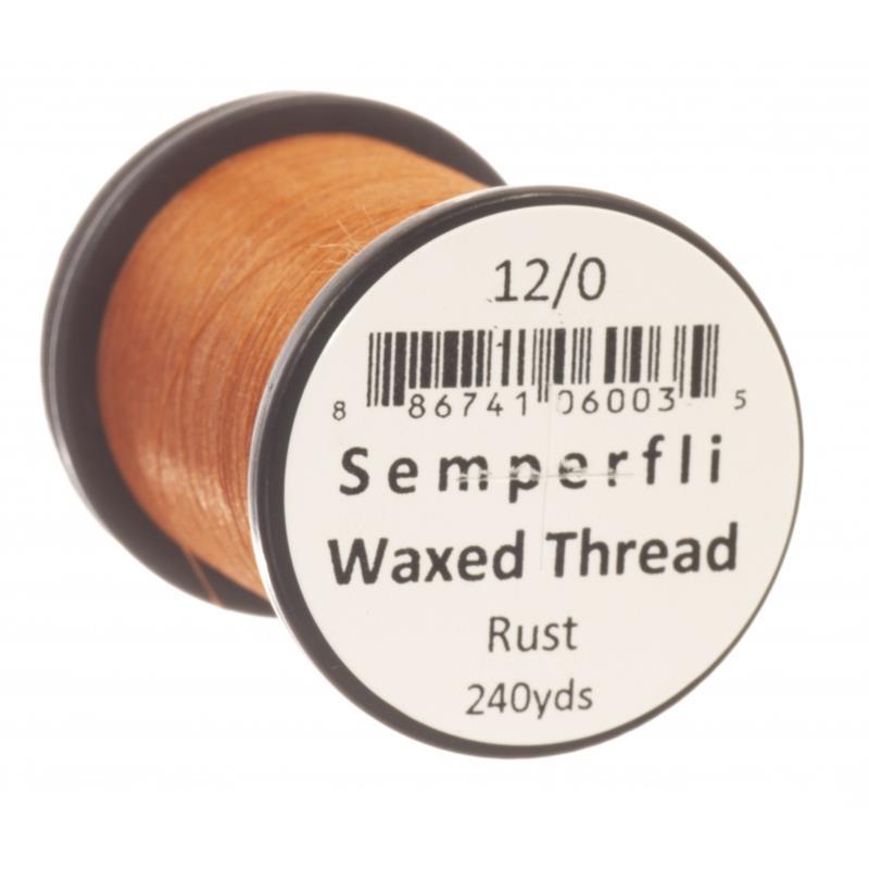 Semperfli Classic Waxed Thread Rust 12/0