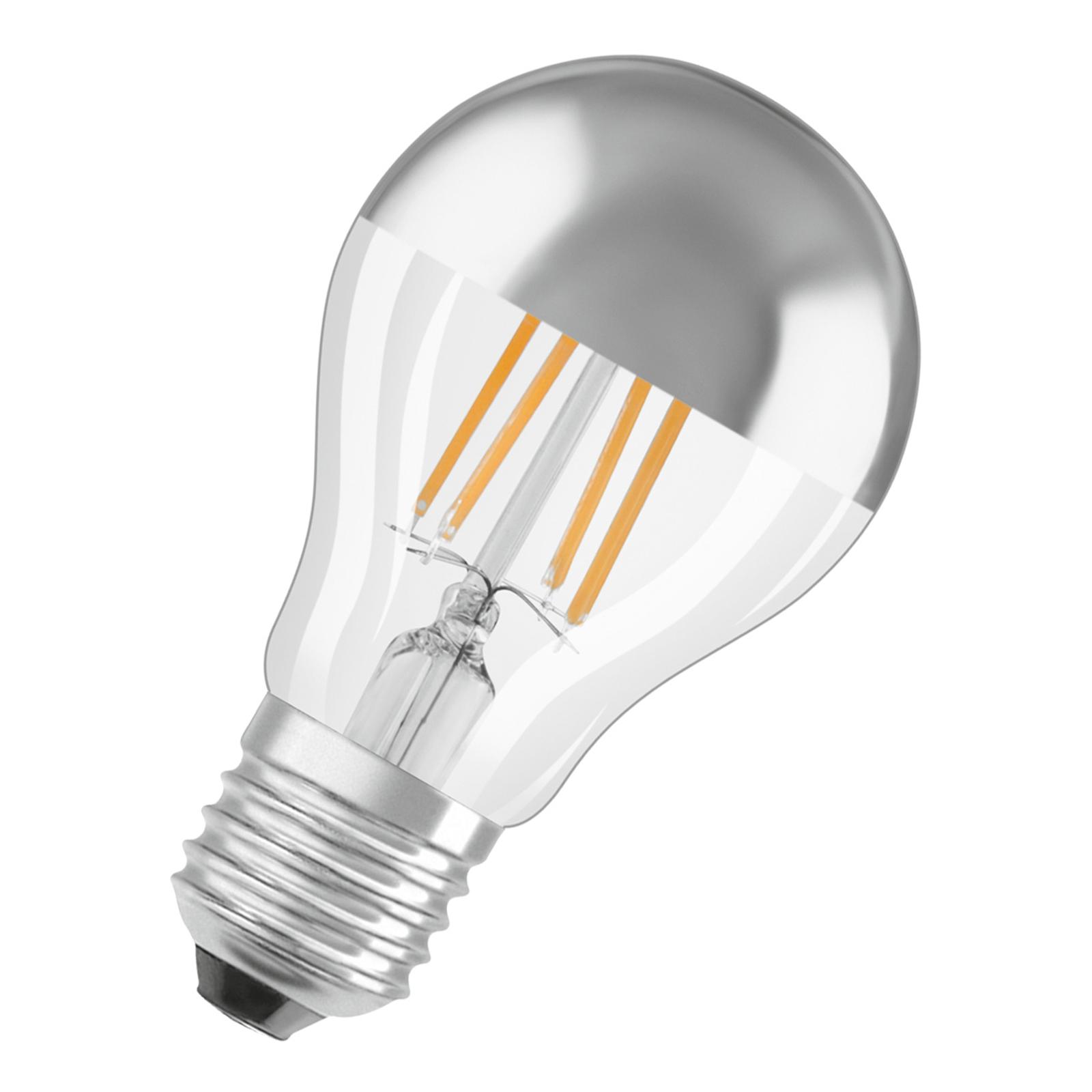 OSRAM-LED-lamppu E27 6,5W Mirror silver 2 700 K