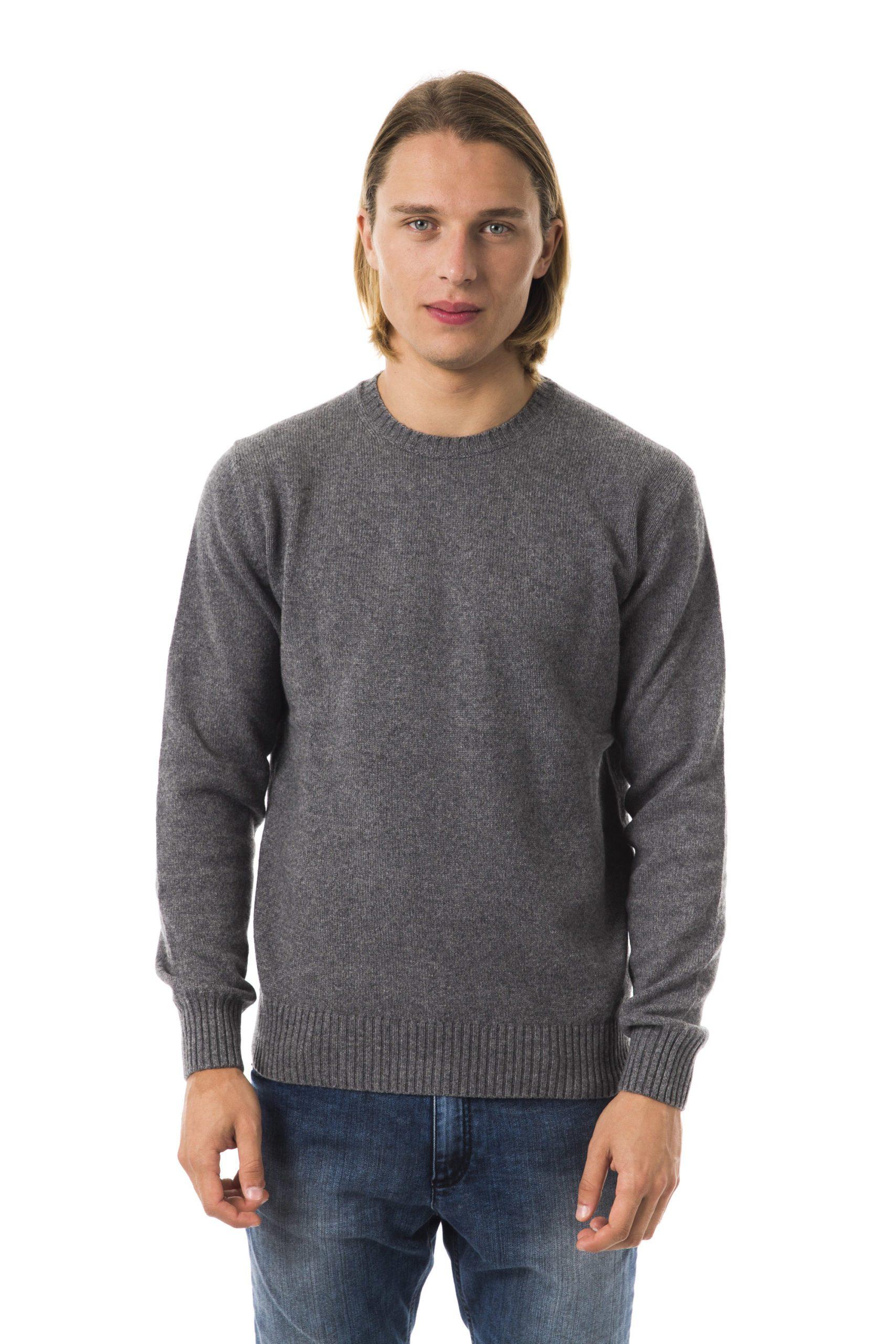 Uominitaliani Men's Cenere Sweater Gray UO816431 - M