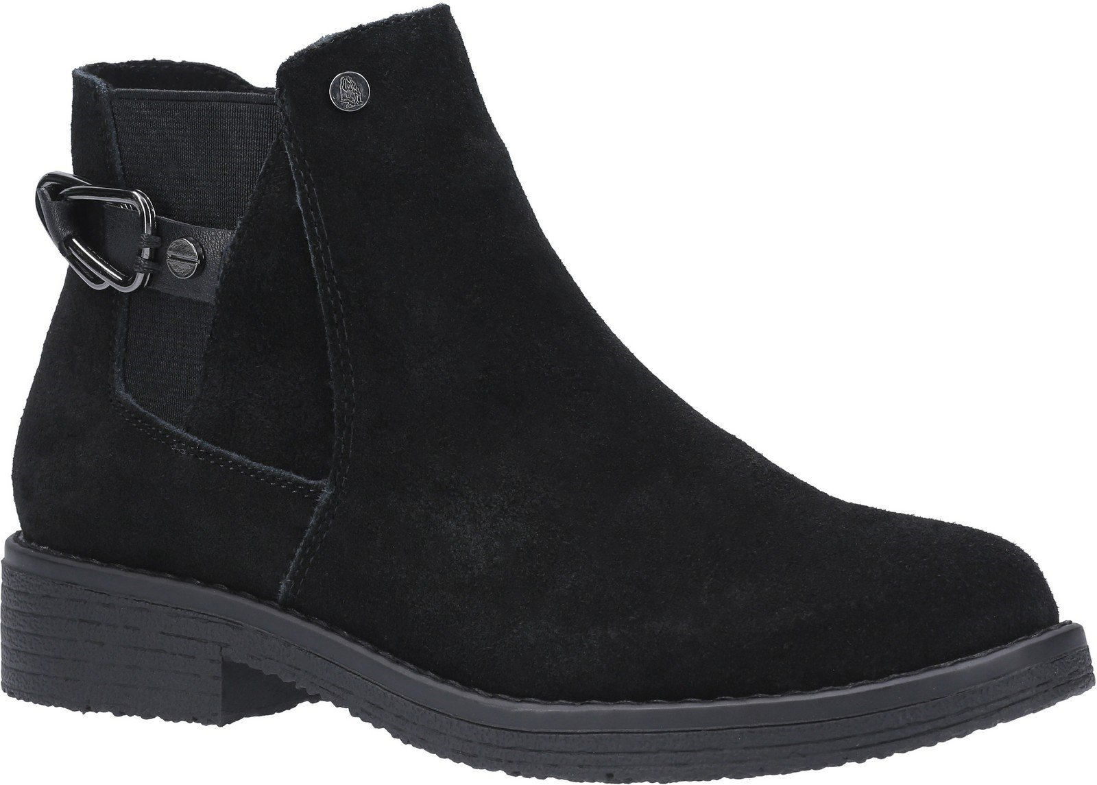 Hush Puppies Women's Alaska Flat Slip On Chelsea Boot Various Colours 27345 - Black 9