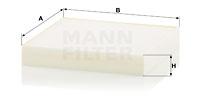 Raitisilmasuodatin MANN-FILTER CU 18 009