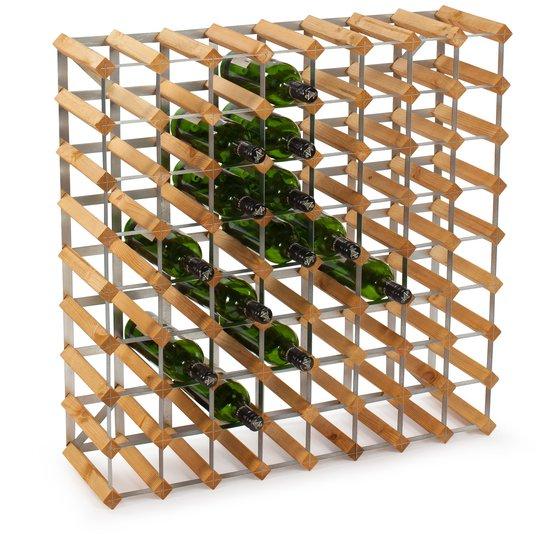 Traditional Wine Racks Vinställ Påbyggnadsbart 72 Flaskor Light oak