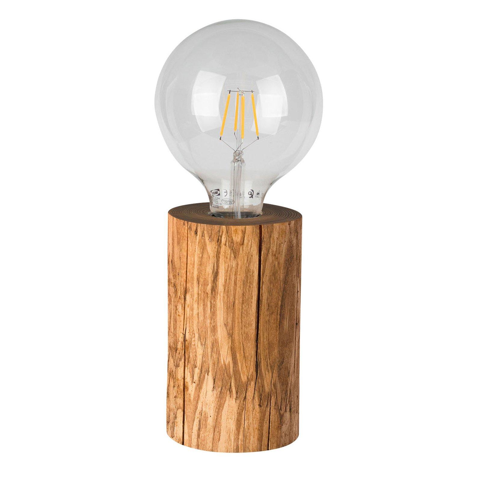 Bordlampe Trabo, beiset furutre, høyde 15cm