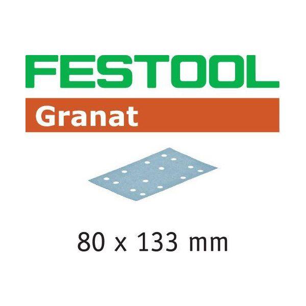 Festool STF GR Hiomapaperi 80x133mm 50 kpl. P60
