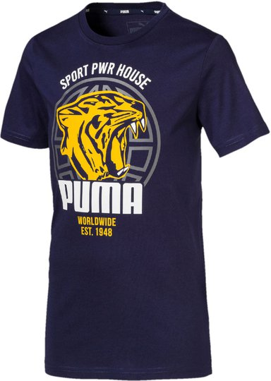 Puma Alpha Graphic T-Skjorte, Peacoat 92
