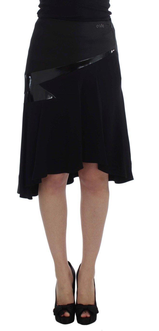 Exte Women's Cotton Stretch Straight Skirt Black SIG30932 - IT42|M