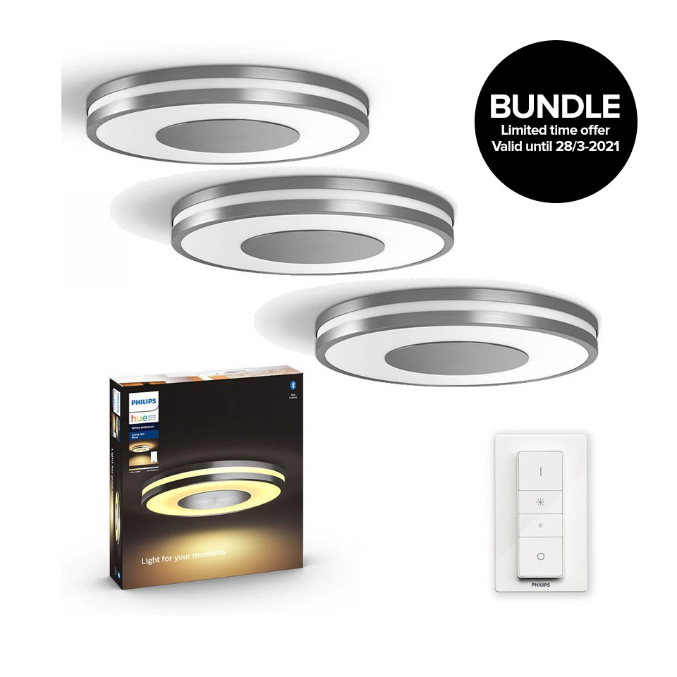 Philips Hue - Being Ceiling Light Aluminium - 3xBundle
