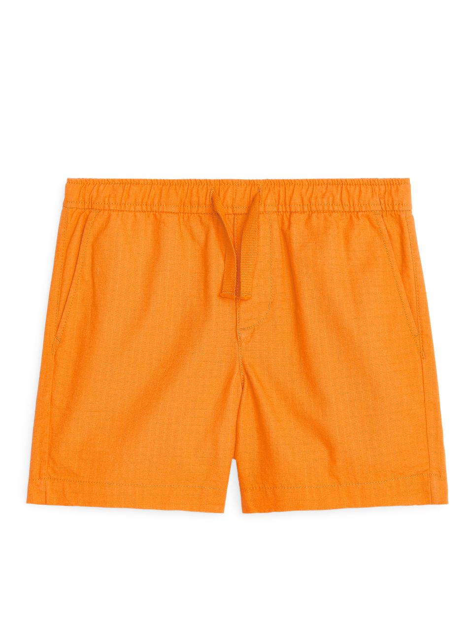 Drawstring Shorts - Orange