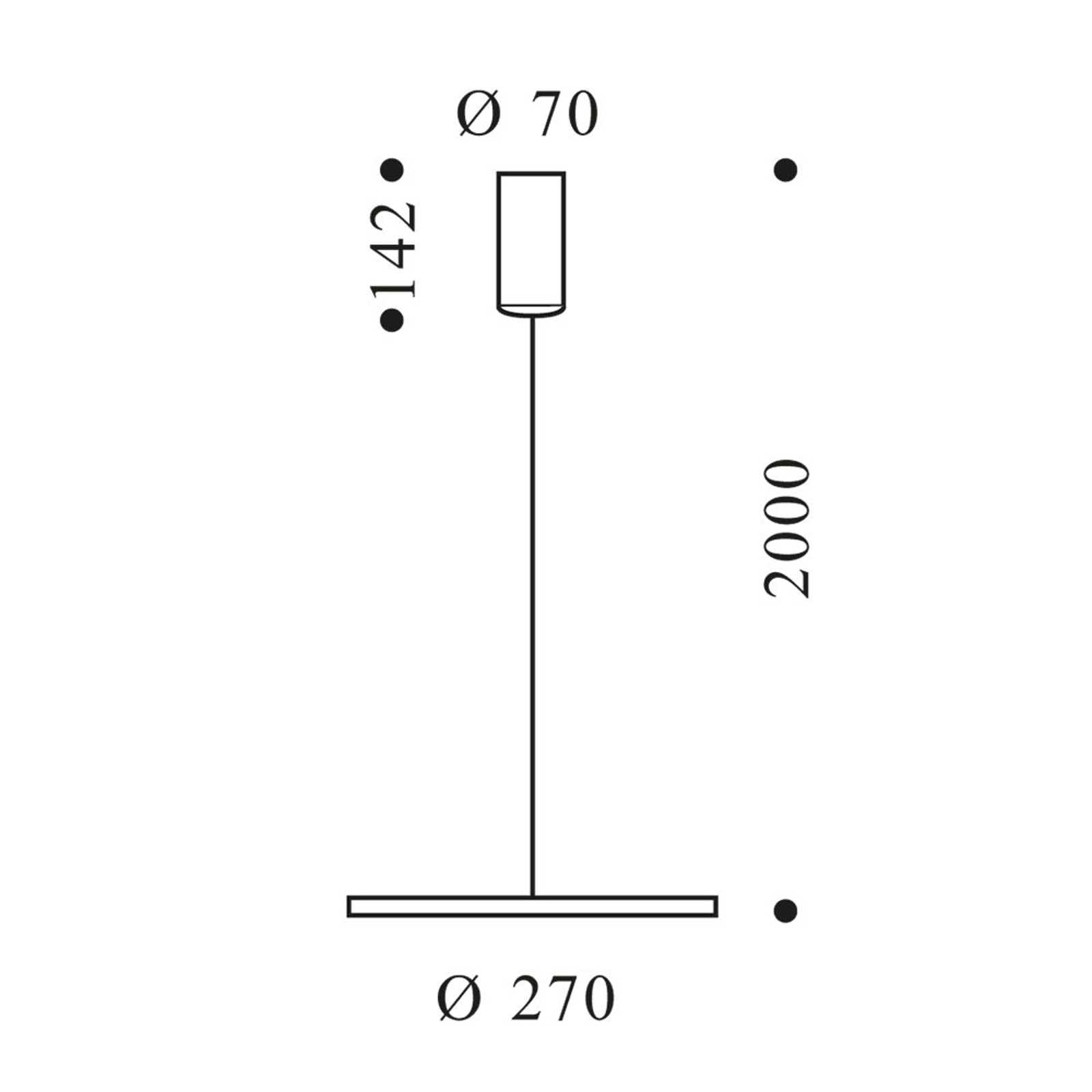 OLIGO Decent Max LED-riippuvalaisin alumiini