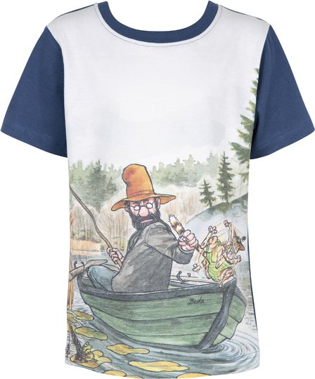 Gubben & Katten T-Shirt, Denim, 92