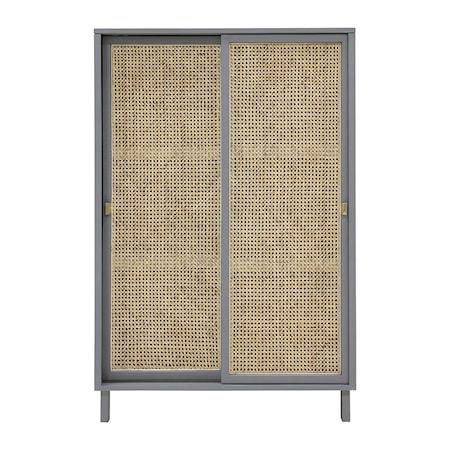 Webbing Sliding Door Cabinet Grey