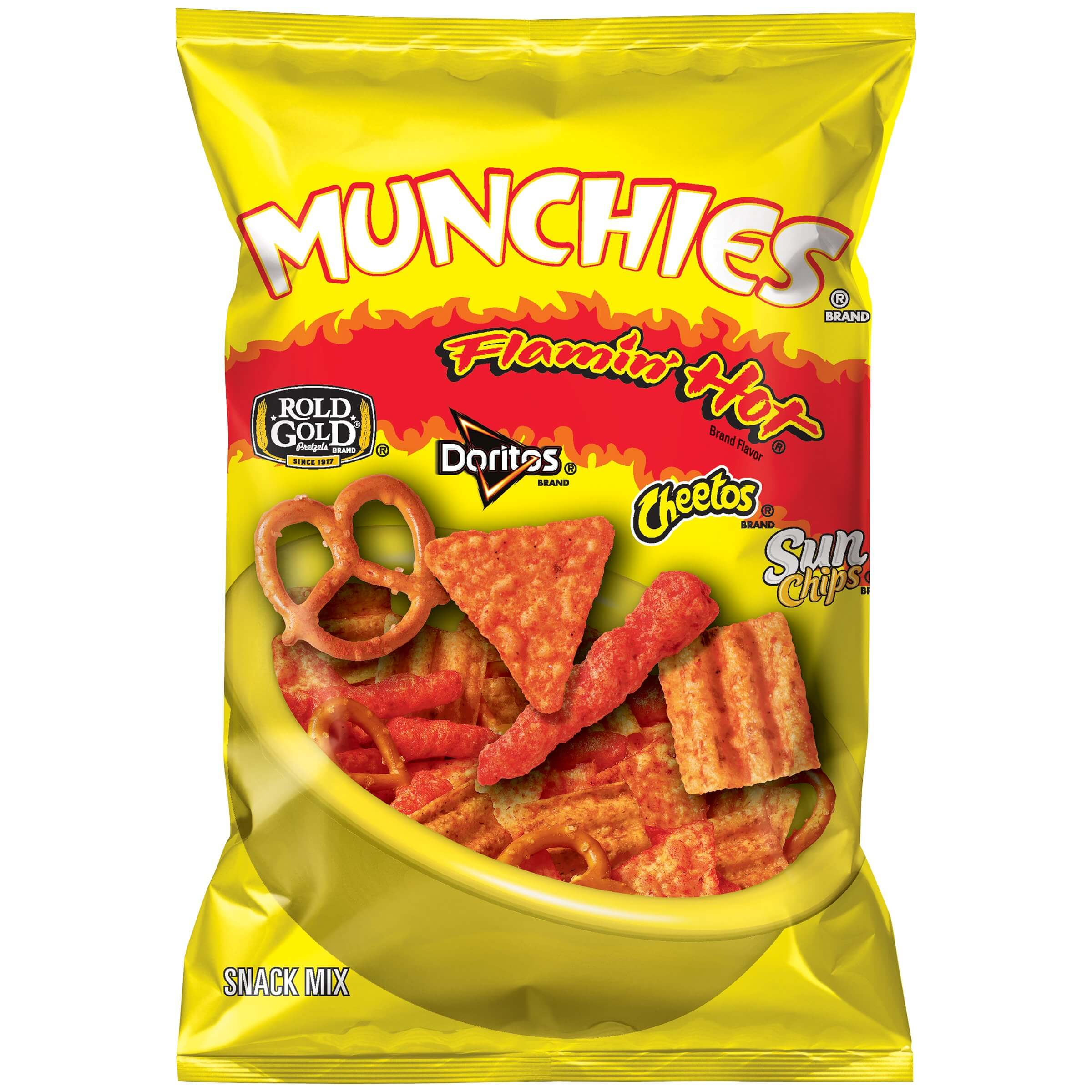 Munchies Flamin Hot Snack Mix 262g