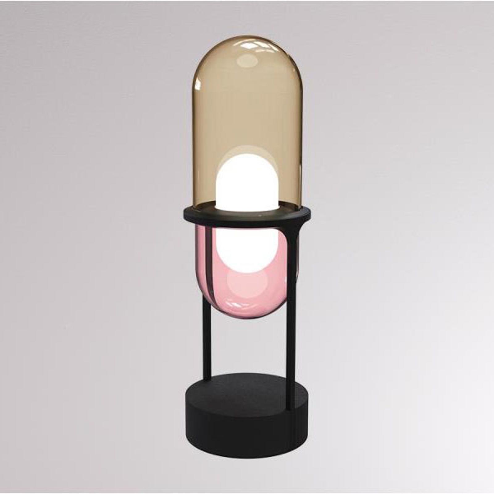 LOUM Pille -LED-pöytälamppu samppanja/pinkki