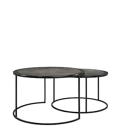 AMADEO coffee table 2-set black alu/iron