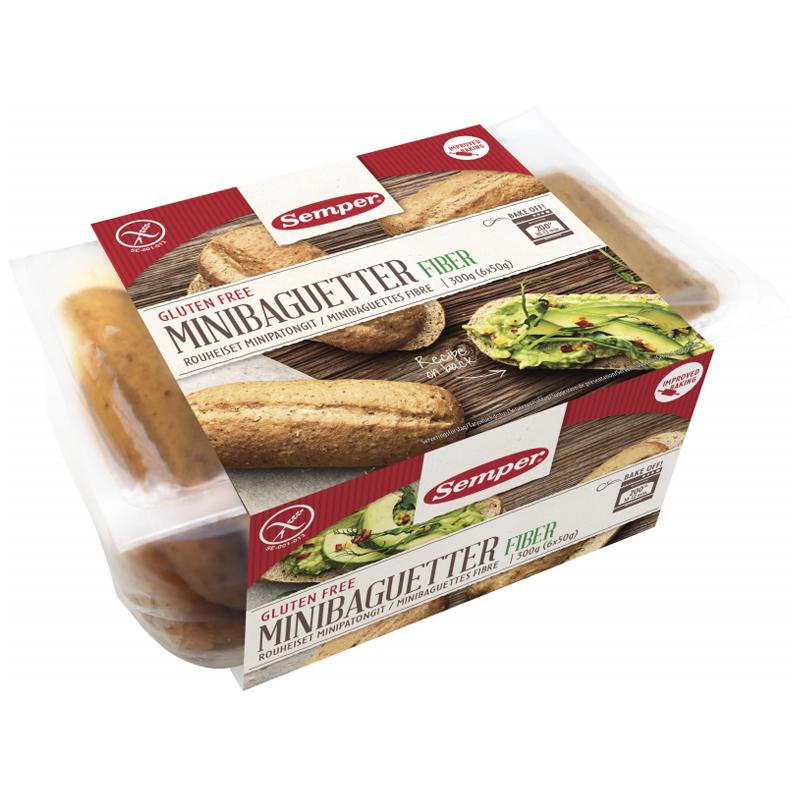 Minibaguetter Glutenfri 6 x 50g - 44% rabatt