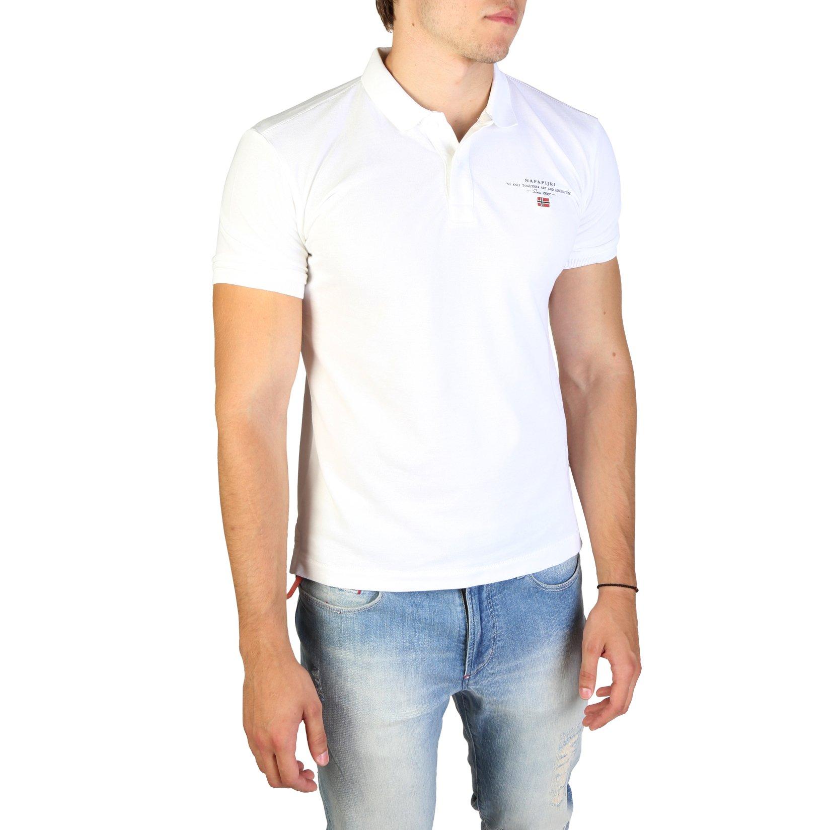 Napapijri Men's Polo Shirt Various Colours ELBAS3_NP0A4EGC - white S