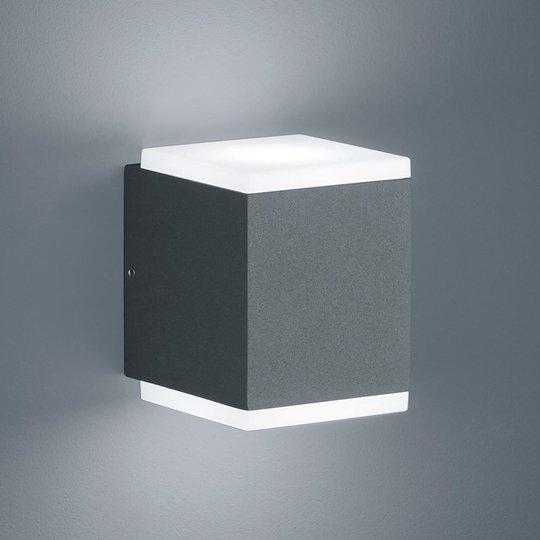 Helestra Kibo LED-ulkoseinälamppu, grafiitti
