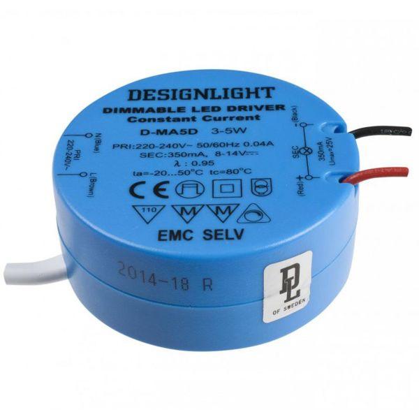 Designlight D-MA5D Driver 3–5 W, IP21