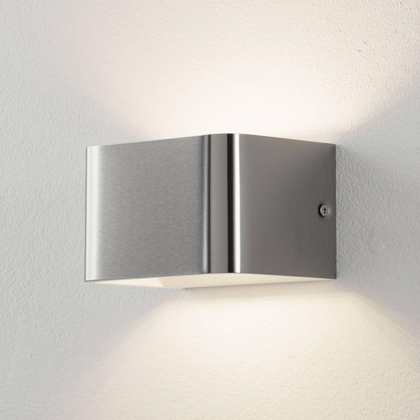 Lucande Sessa LED-vegglampe 13 cm matt nikkel