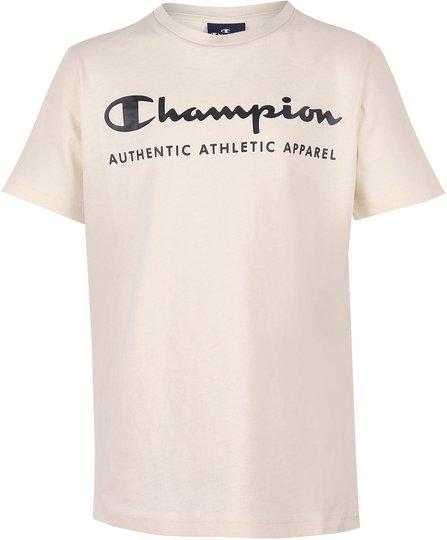 Champion Kids Crewneck T-Shirt, White Asparagus XS