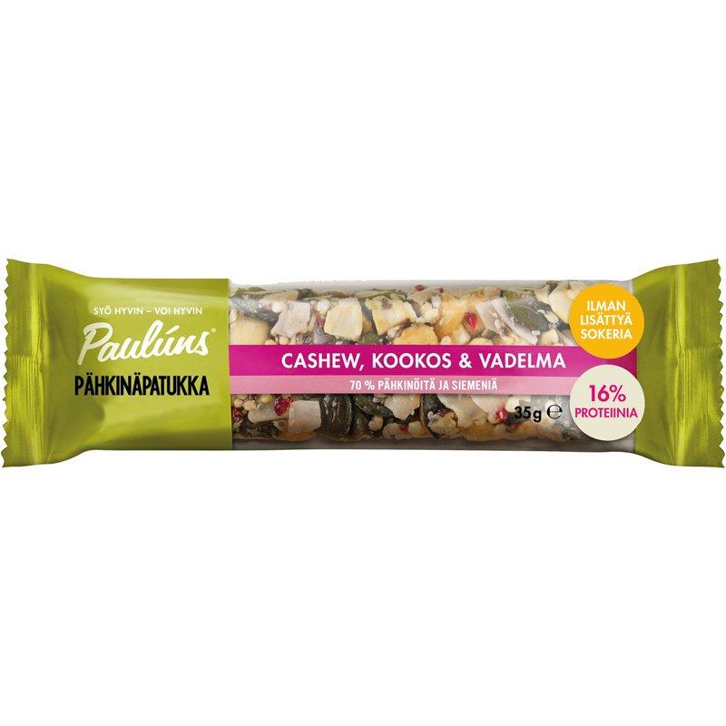 Pähkinäpatukka Cashew, Kookos & Vadelma - 32% alennus