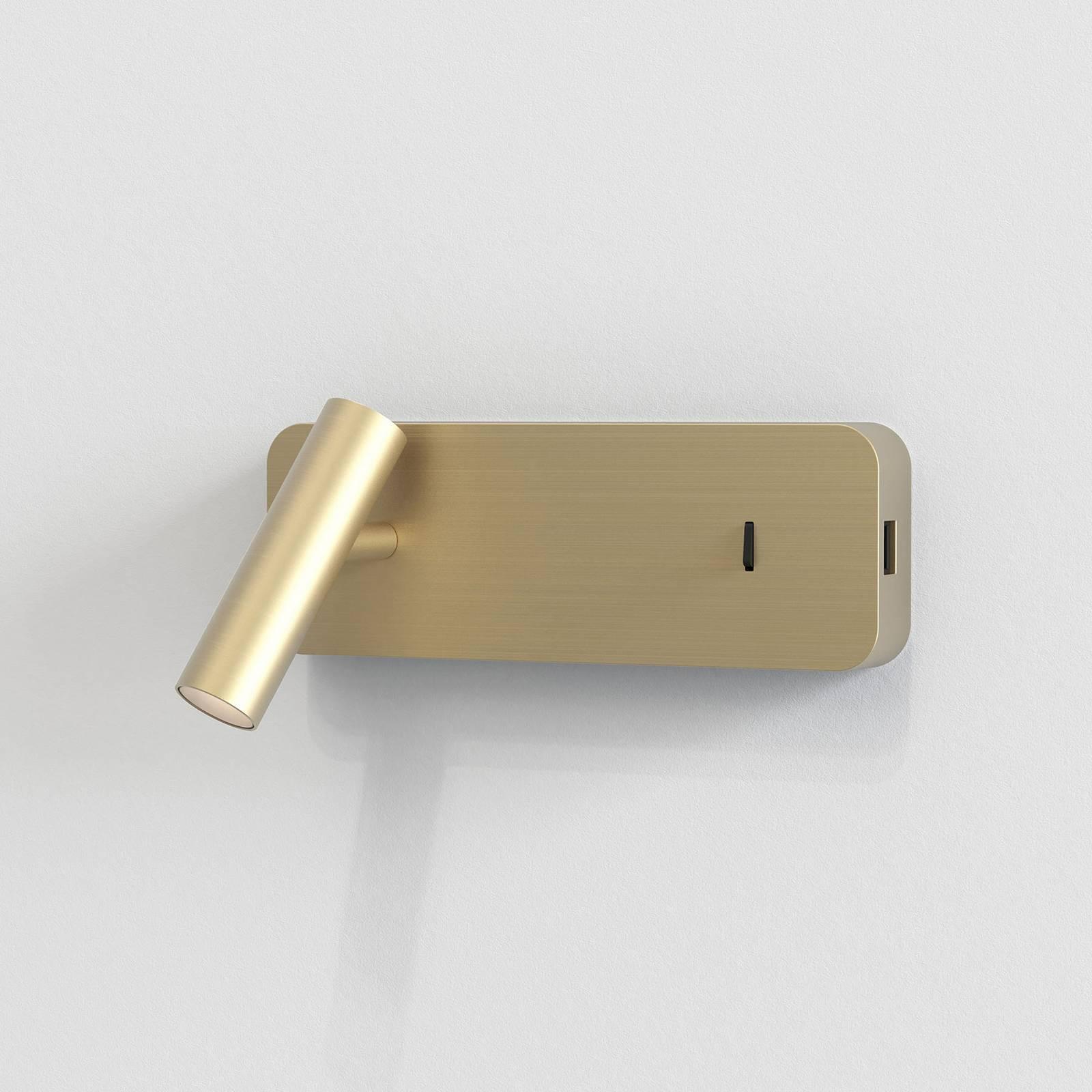 Astro Enna Surface USB -LED-seinävalaisin, kulta
