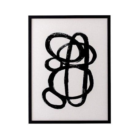Ramme Svart Furu Abstrakt poster