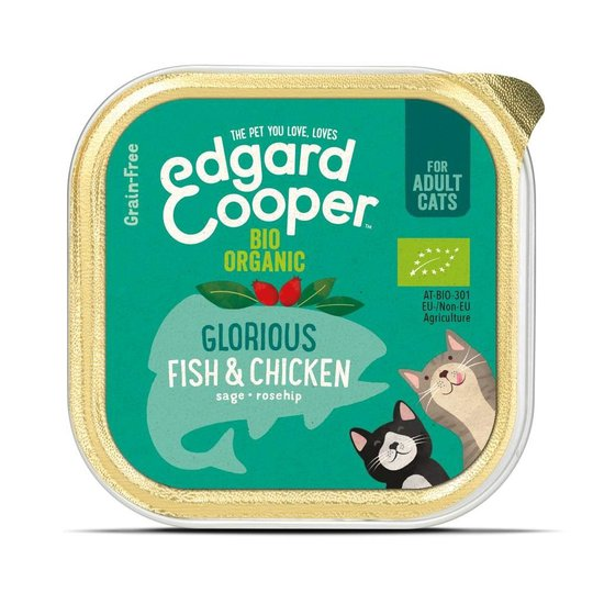 Edgard & Cooper Cat Organic Fisk & Kyckling 85 g