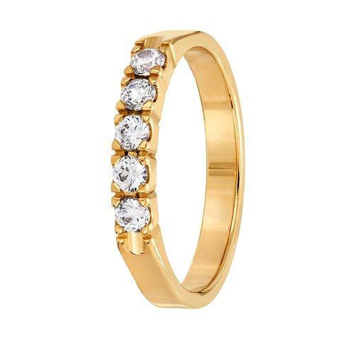 Diamantring i 18K guld, 67