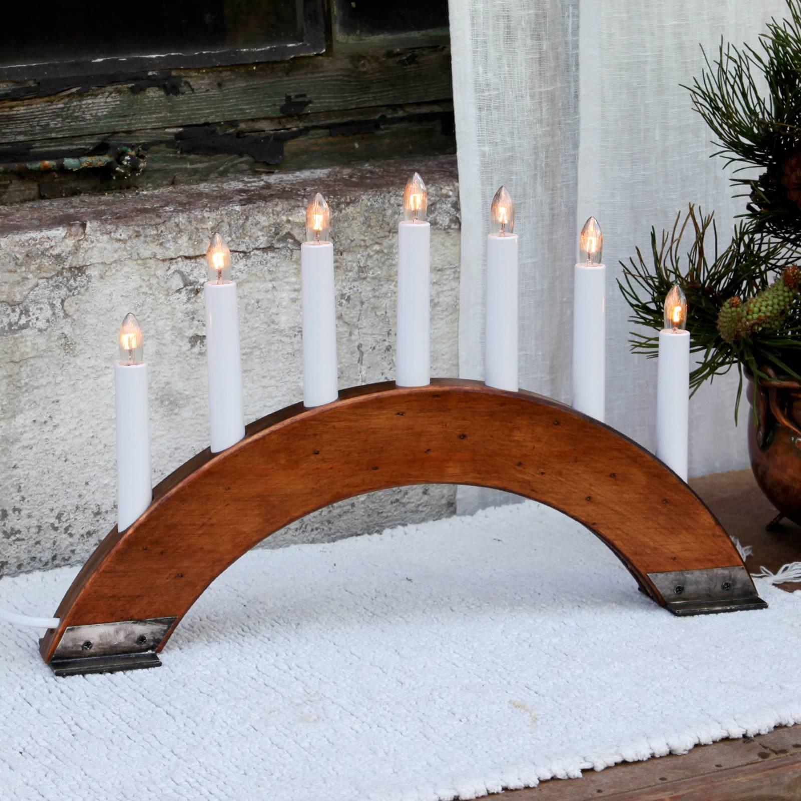 Viking Bow-kynttelikkö, punaruskea, 7-lamppuinen