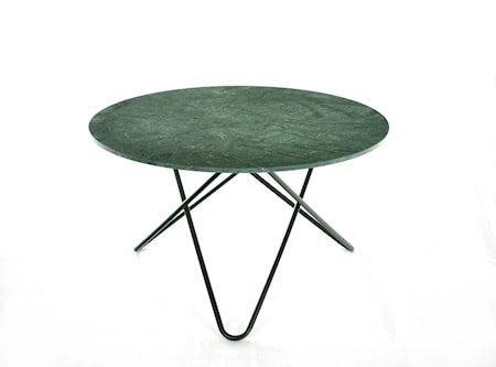 Big O Spisebord Svart/Grønn Marmor Ø120
