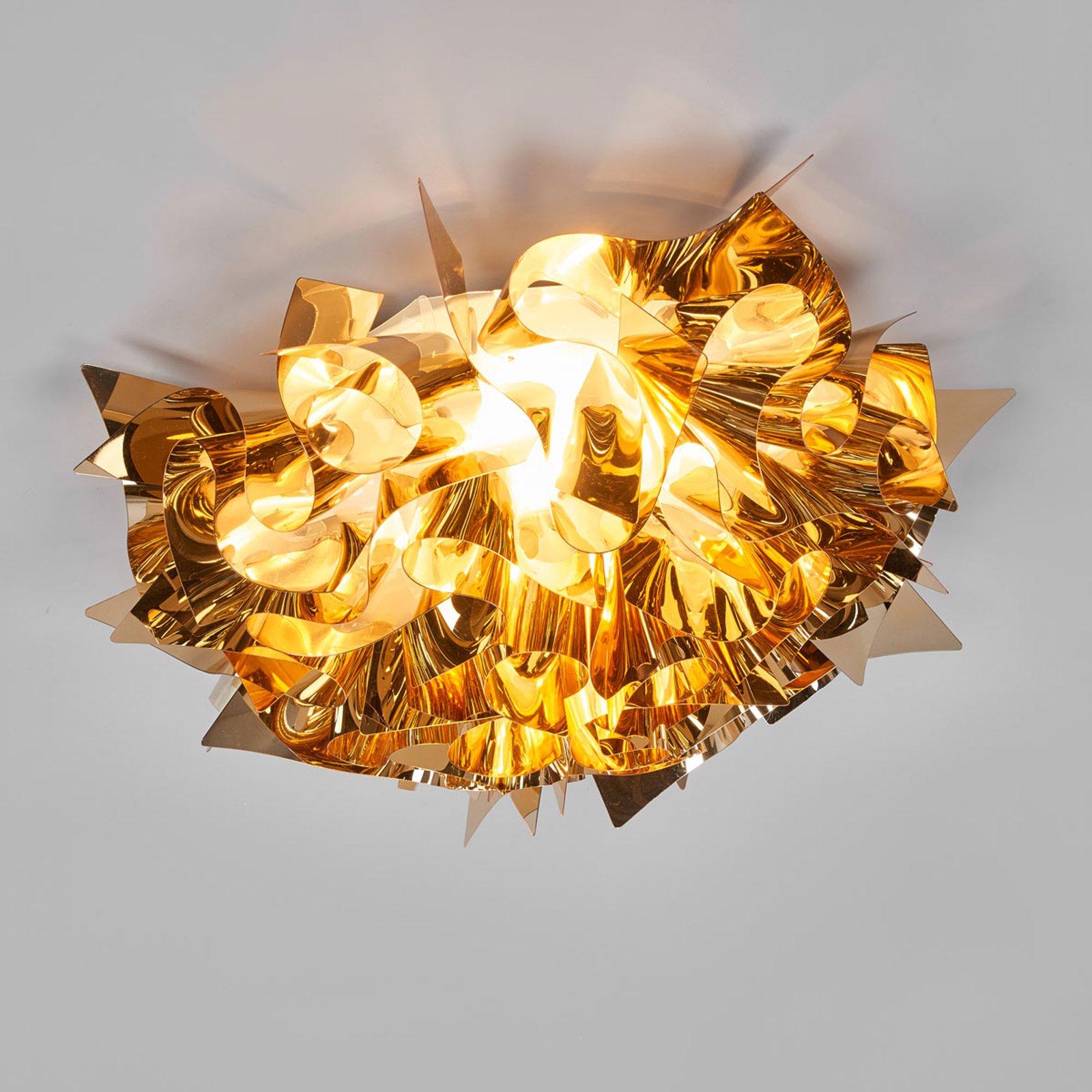 Slamp Veli Medium – design-taklampe, Ø 53 cm, gull