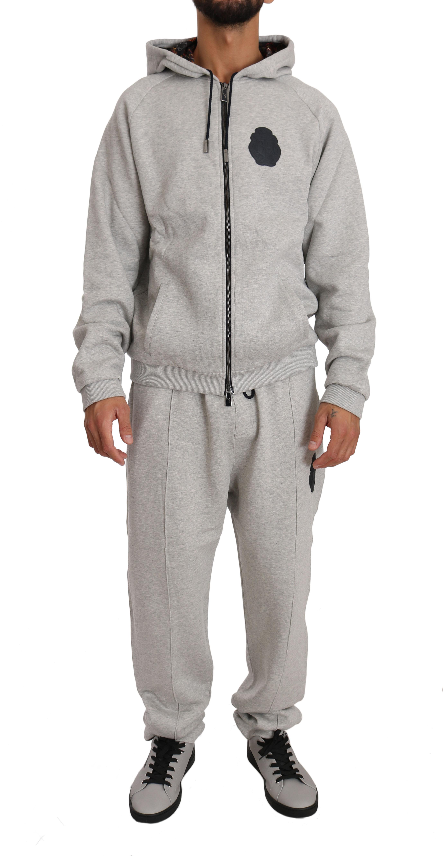 Billionaire Italian Couture Men's Hoodie Tracksuit Grey BIL1005 - 4XL