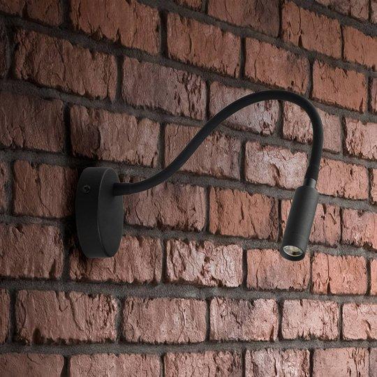 Lagos LED-vegglampe, svart
